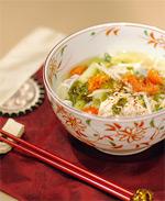Yoğurtlu Tavuklu Pirinç Çorbası tarifi
